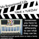 My Repurposed Life Take 2 Tuesday Headboard Memo