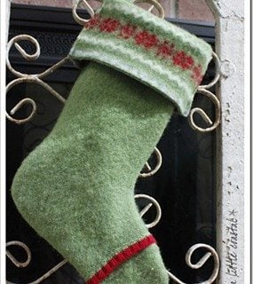 felted sweater Christmas stocking