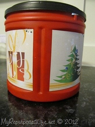 Coffee can crafts my repurposed life - What are coffee cans made of ...