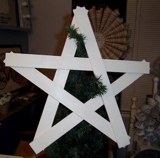 Primitive Star using Paint Sticks