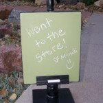 message recipe holder chalkboard