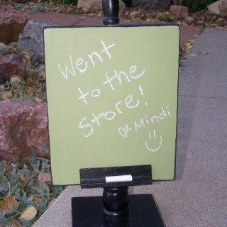 message recipe holder chalkboard
