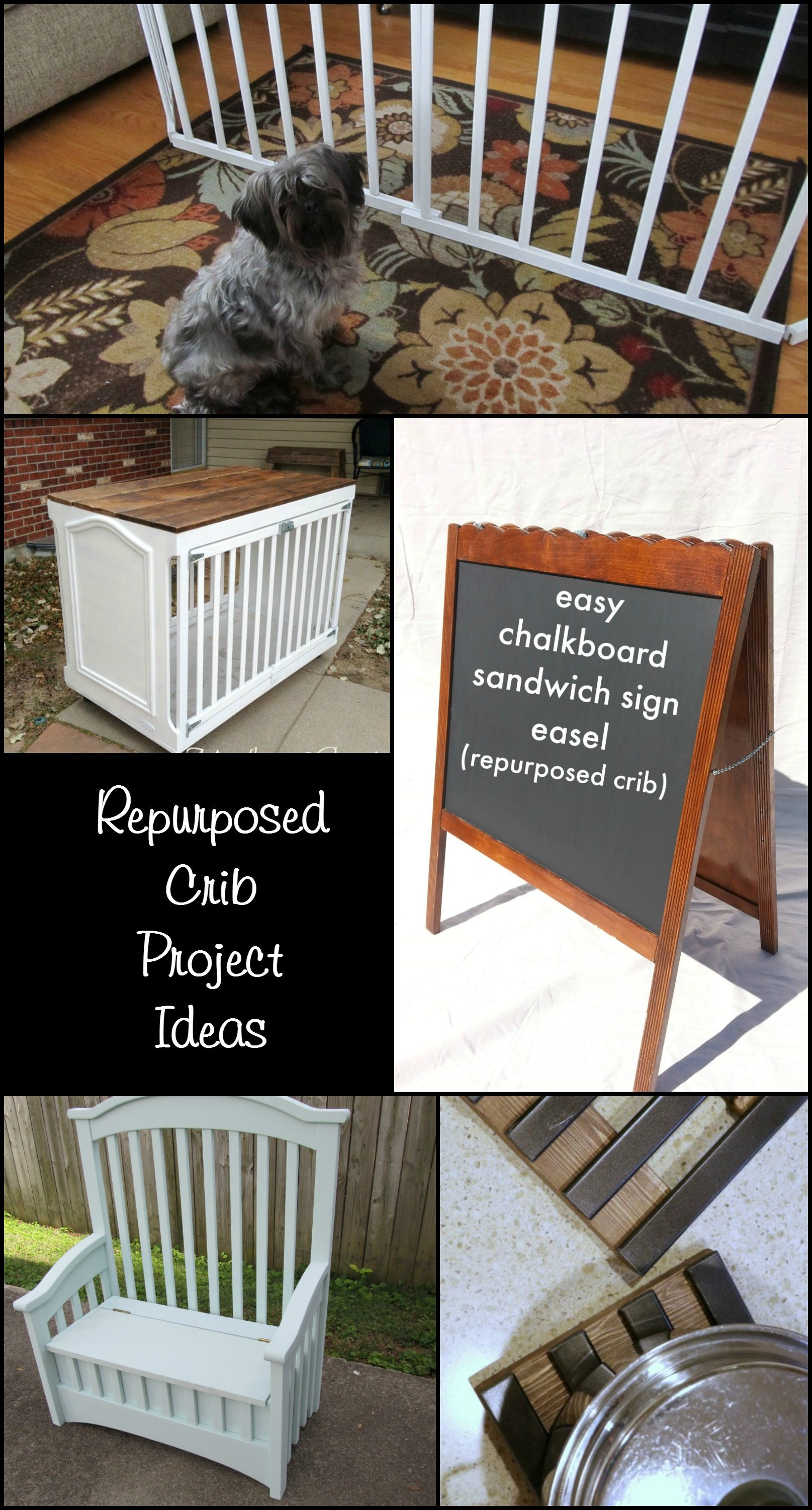 Repurposed chair ideas my repurposed life -  repurposed crib project ideas with you cribs are readily available in numerous places my favorite place to find old cribs is on the side of the road