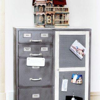 storage cabinet makeover