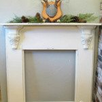 how to faux mantel