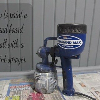 Command Max-paint sprayer indoors