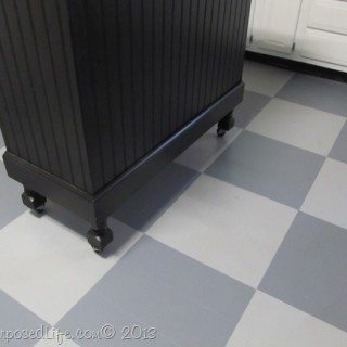 Painting a Kitchen Floor {updating the color}