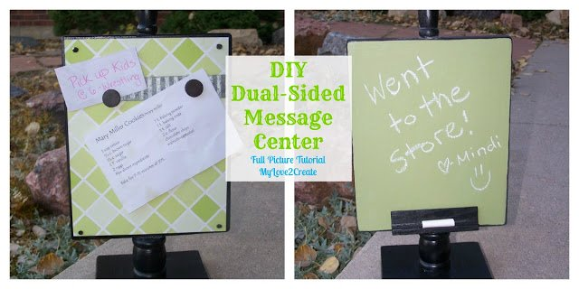 DIY dual sided message center