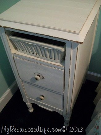 little white nightstand
