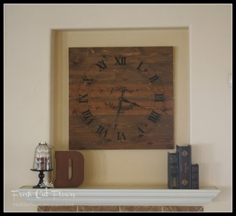 DIY Oversized Clock