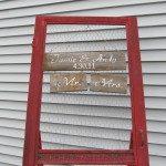 Vintage Screen Door Display