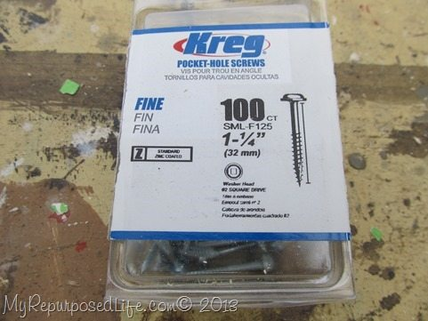 Kreg Jig Pocket Hole Screws