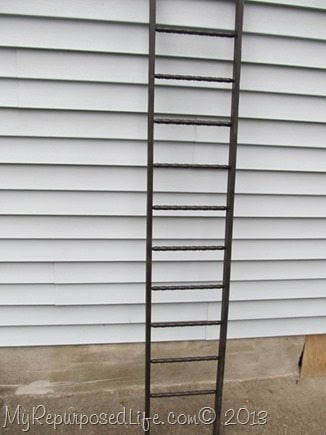 diy faux ladder