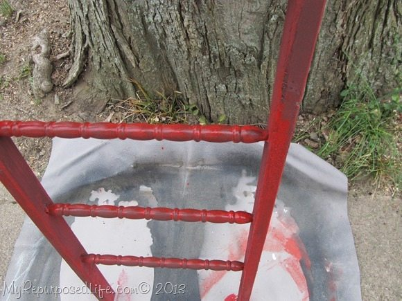 red faux ladder