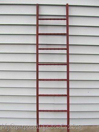 DIY red faux ladder
