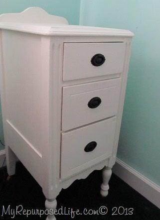 pretty white nightstand