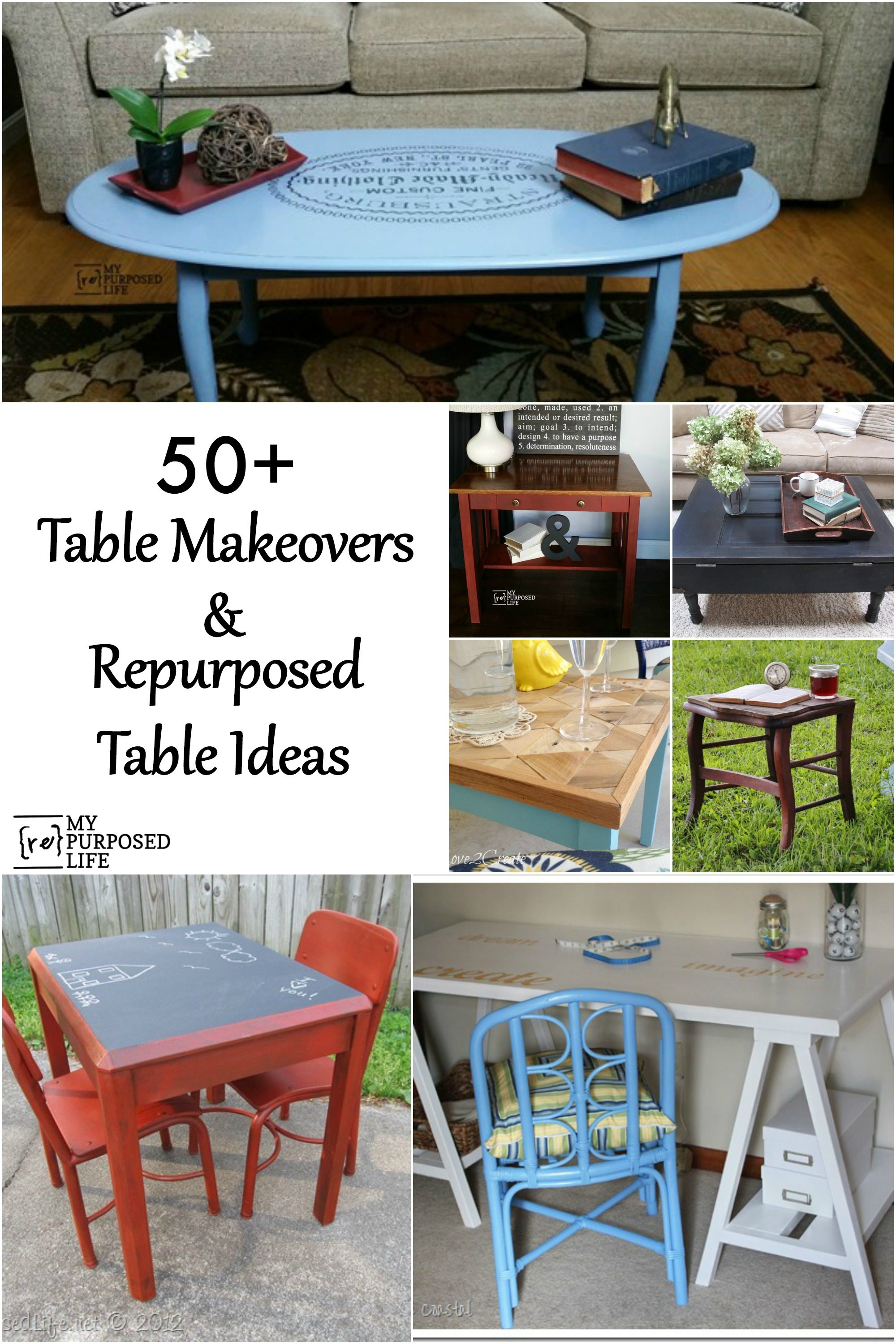 Elegant Repurposed Tables And Table Makeover Ideas MyRepurposedLife.com