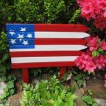 Diy American Flag For Your Garden