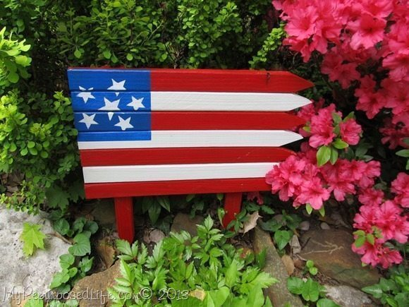 Americana Flag with Home Depot & DecoArt Patio Paints