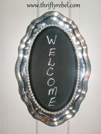 Chalkboard Tray Sign