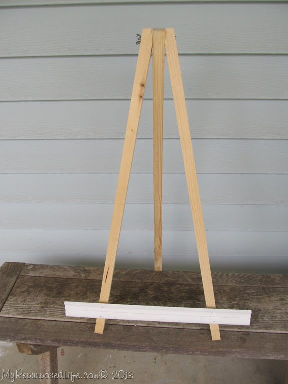 How To Make A Easel Stand Building A Wooden Door Canopy