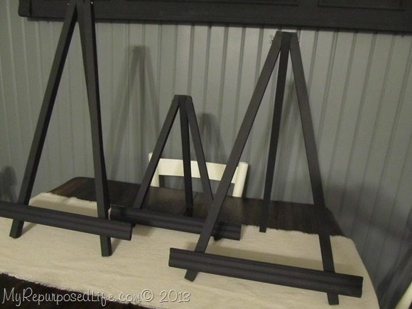 small black easels