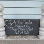 Repurposed Bed Posts {Chalkboard}