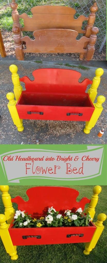 My Repurposed Life-Cheery FlowerBed