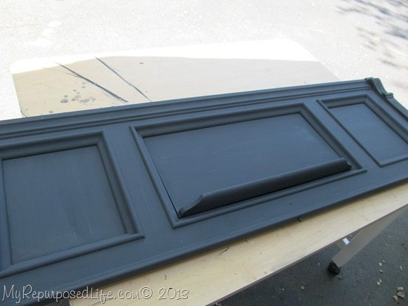 antique piano front DIY chalk paint
