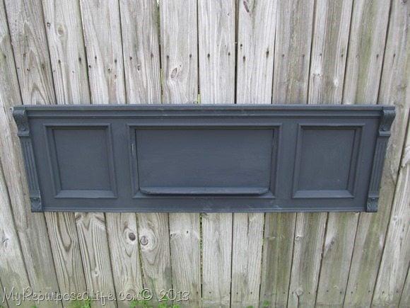 black piano front using DIY chalk paint