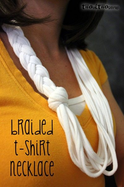 braided t-shirt necklace