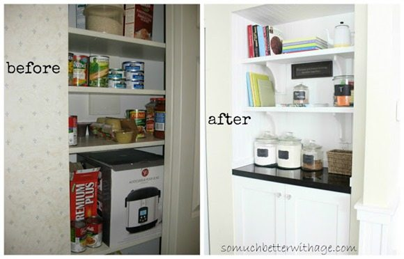 closet into a small butler pantry