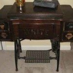 Repurposed Treadle Sewing Machine