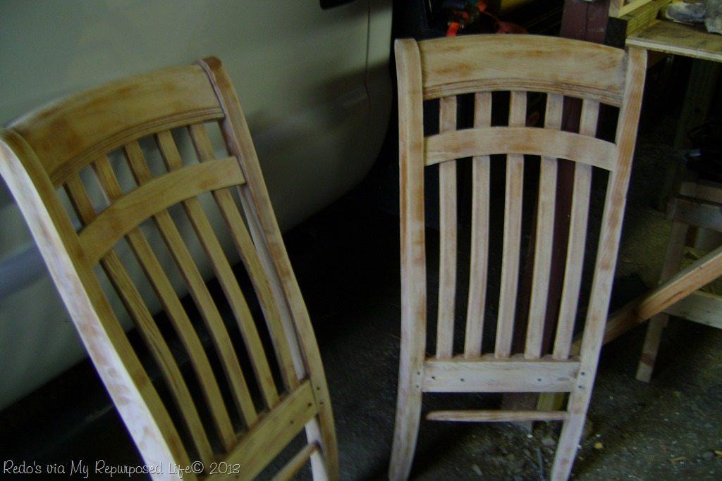 Repurposed chairs make a great corner