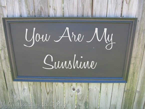 large chalkboard-You are My Sunshine