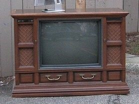 Repurposed Console Tv