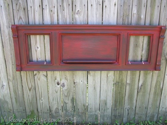 piano front painted red