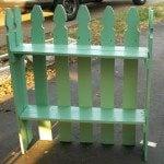 Picket Fence Garden Shelf