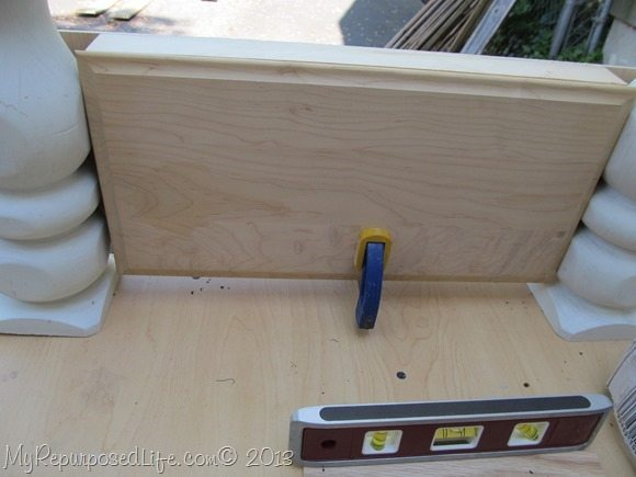 using a drawer front for a chalkboard