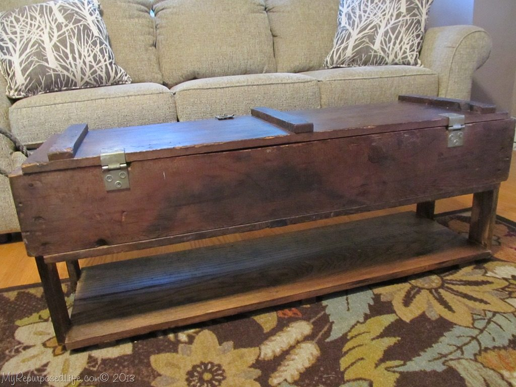 Repurposed Ammo Box Into Coffee Table Diy Pinterest Coffee Box And Repurposed