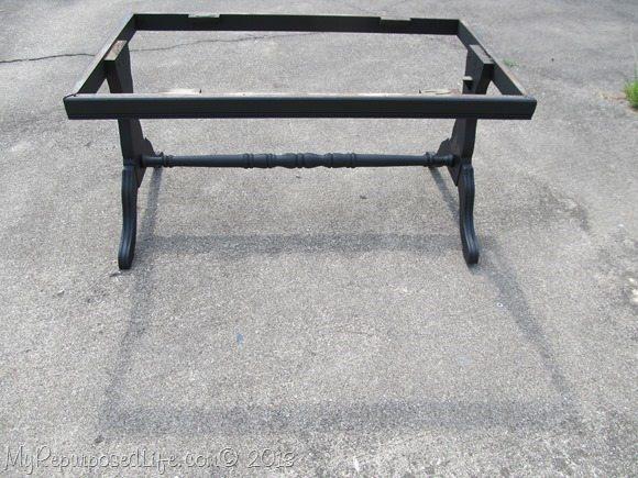 coffee table painted black hardwood flooring tabletop