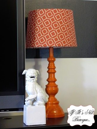flea market lamp makeover