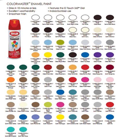 Similiar Krylon Colormaster Spray Paint Colors Chart Keywords