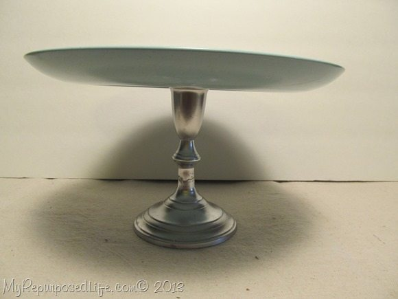 spray painted candlestick