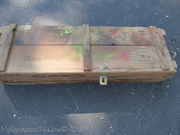 vintage ammo box