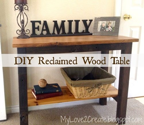MyLove2Create, recalimed wood table