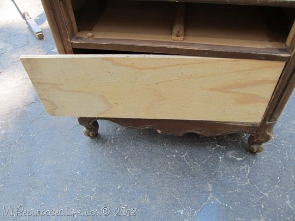 cut the plywood for the over drawer