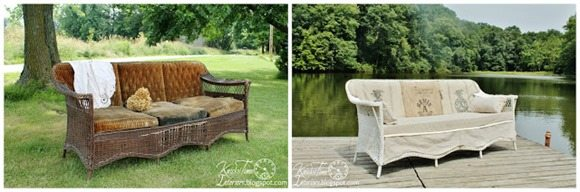 how to fix up an old wicker loveseat