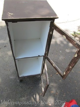 old brown cabinet needs a makeover