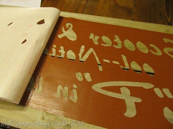 peeling the stencil